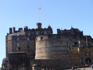 Flying solo at Edinburgh Castle