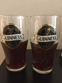 Vintage Ale in Guinness 250th anniversary glasses