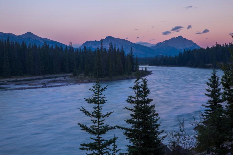 jasper-sunset-athabasca-river-national-park